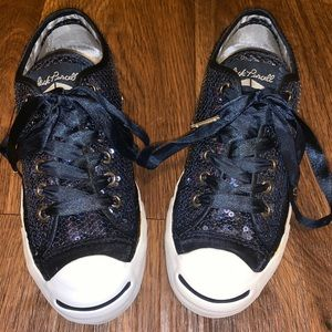 Jack Purcell Blue Sequined Converse